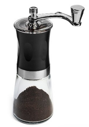 IdylcHomes KONA Coffee Slim Grinder ~ Best Conical Burr Mini Mill with Effortless Manual Crank Design & Professional Grade Ceramic Burrs