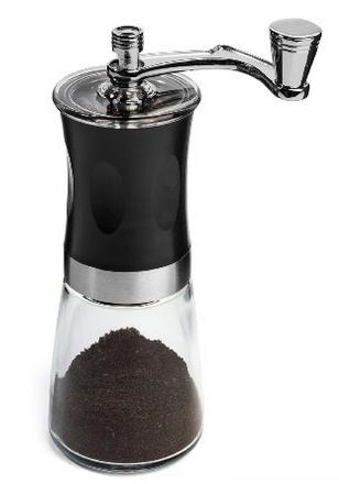 IdylcHomes KONA Coffee Slim Grinder ~ Best Conical Burr Mini Mill with Effortless Manual Crank Design & Professional Grade Ceramic Burrs