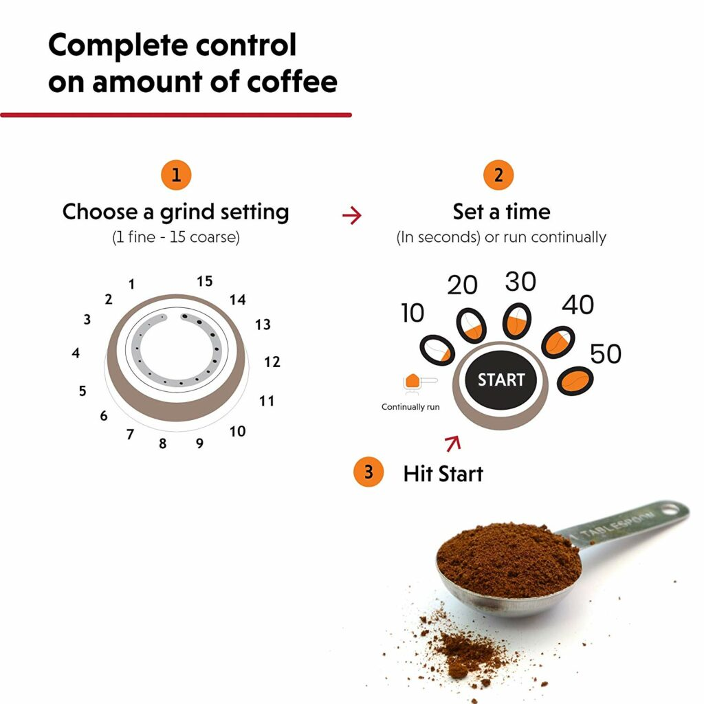 Coffee grinder settings