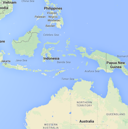 indonesia - on a map
