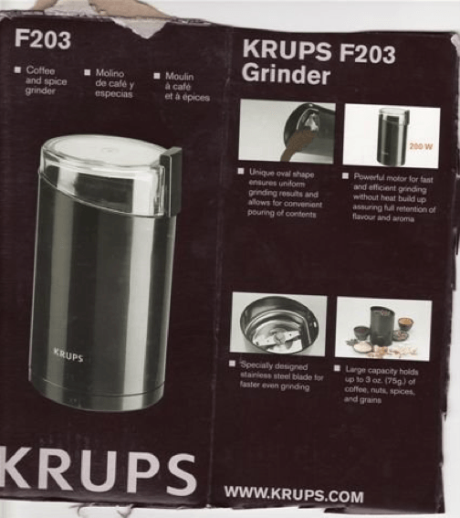 KRUPS F203 Electric Coffee and Spice Grinder Review