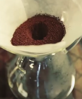 coffee grinds dimple chemex