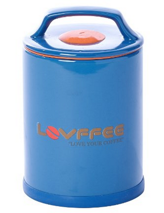 LOVFFEE Blue Ceramic Premium Coffee Canister