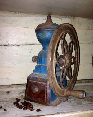 antique coffee grinder vintage