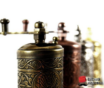Bazaaranatolia Turkish Grinder, Spice Grinder, Salt Grinder, Pepper Mill 4.2'
