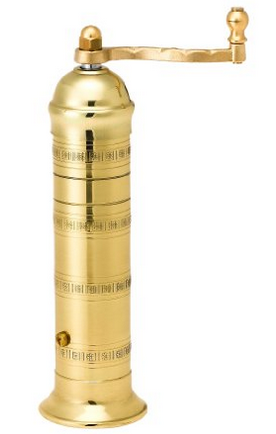 Pepper Mill Imports Atlas Pepper Mill, Brass, 8""