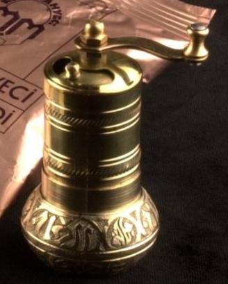 Turkish Coffee Brass Hand Made Engraved Grinder Spice Salt Pepper Mill