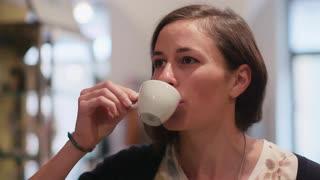 tasting espresso