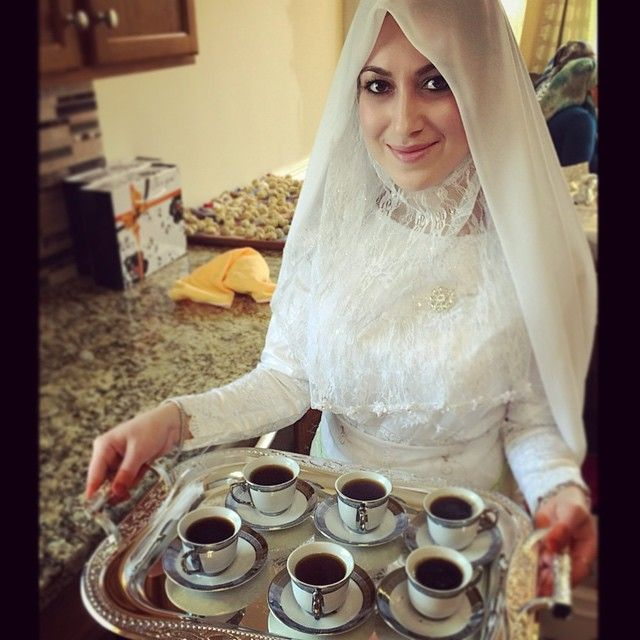 turkish coffee serving lady