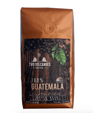 TWO VOLCANOES WHOLE BEAN COFFEE - GUATEMALAN ORGANIC, GOURMET & RARE, SINGLE ORIGIN