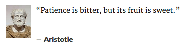 aristotle patience quote