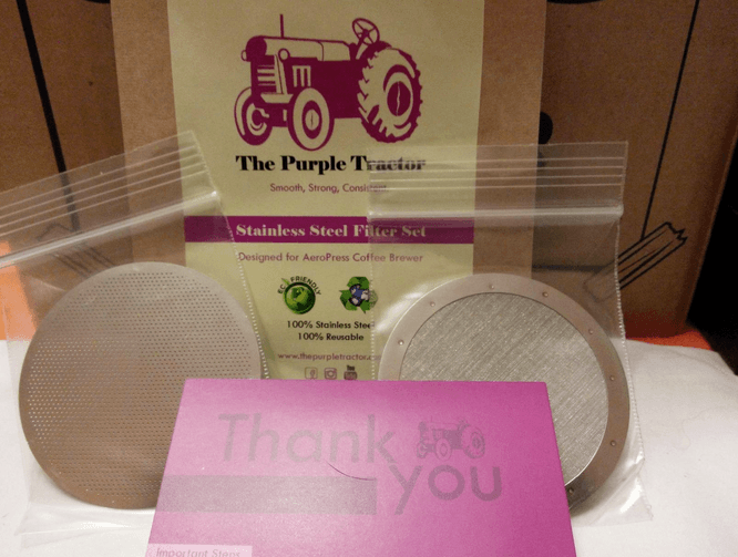 the purple tractor aeropress filter
