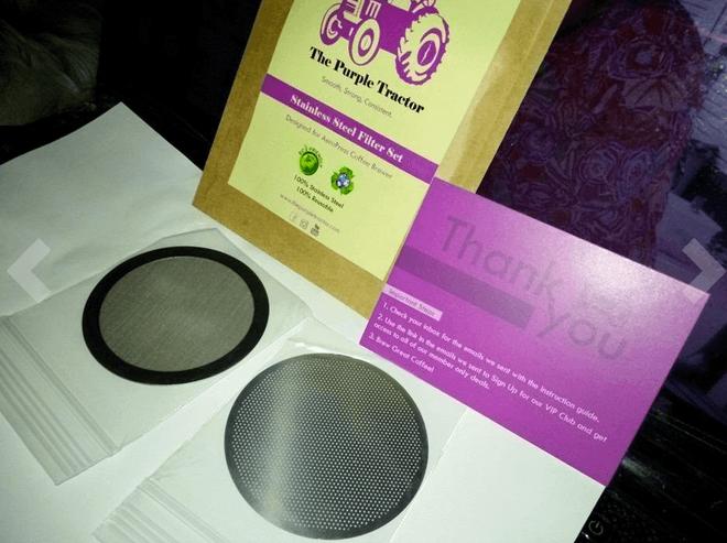 the purple tractor aeropress filter