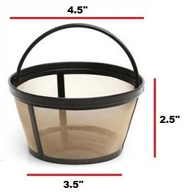 true modern electronics gold tone permanent coffee filter