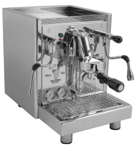 Bezzera Mitica Commercial Espresso Machine - HX ss boiler switchable tank direct connect rotary vane pump
