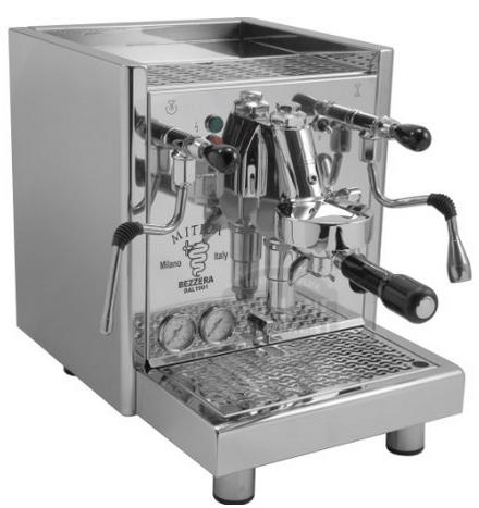 Bezzera Mitica Commercial Espresso Machine - HX ss boiler switchable tank direct connect rotary vane pump