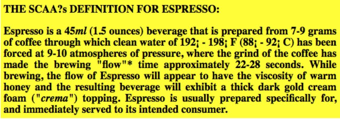 definition of espresso