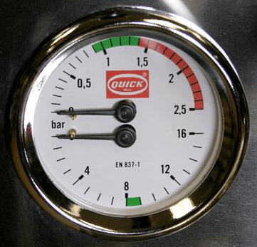 espresso bar pressure
