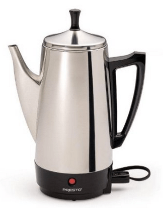 BPA FREE PRESTO 02811 12-CUP STAINLESS STEEL COFFEE MAKER