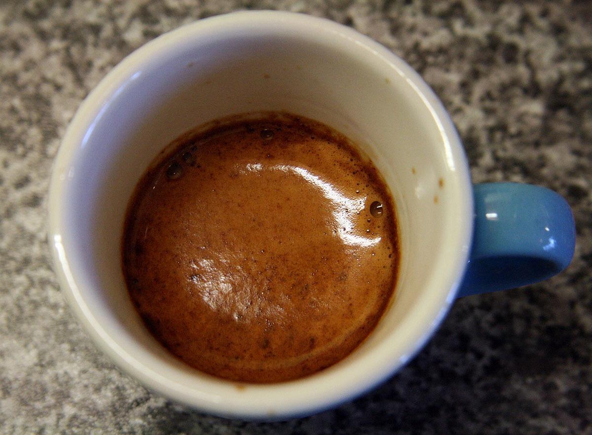 ristretto in a mug