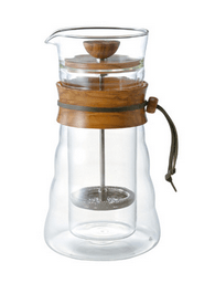 Double glass coffee press hario
