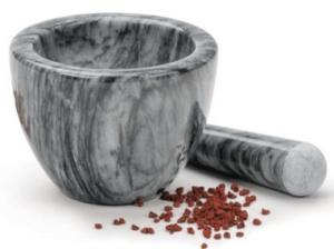 RSVP Gorgeous Grey Marble Mortar & Pestle spice grinder