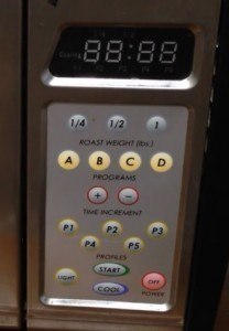 behmor 1600 coffee roaster control panel