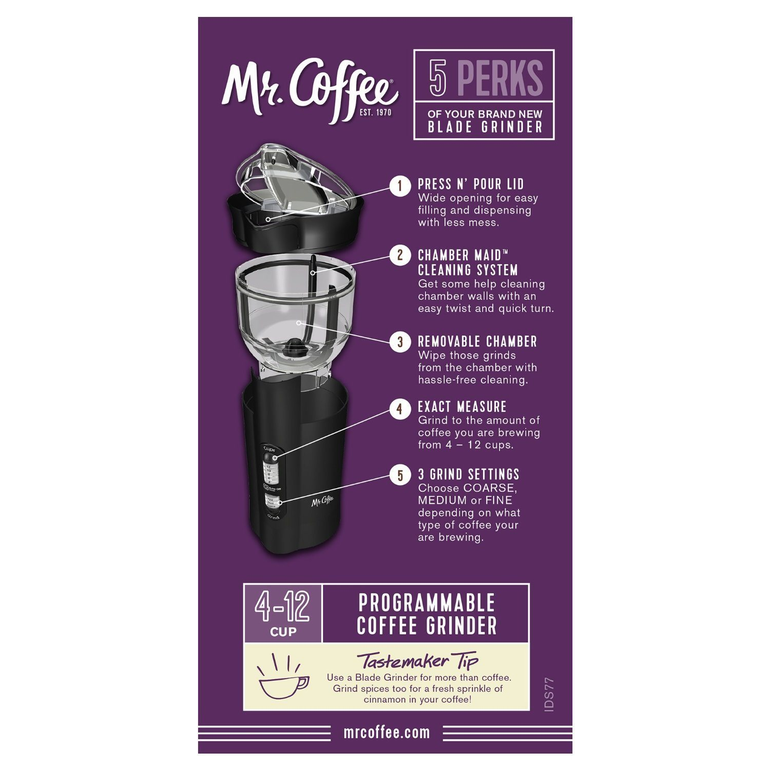 mr coffee electric grinder review