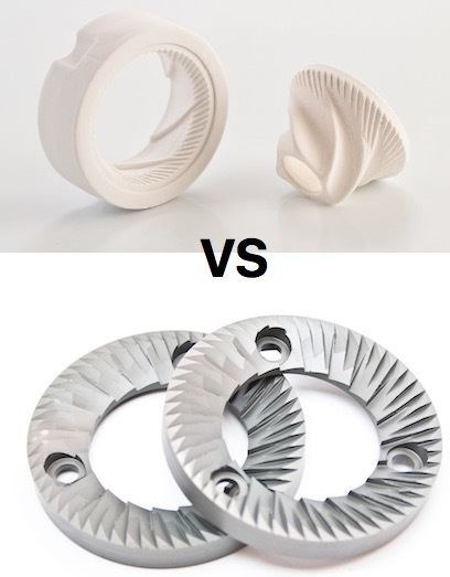 ceramic vs steel burrs