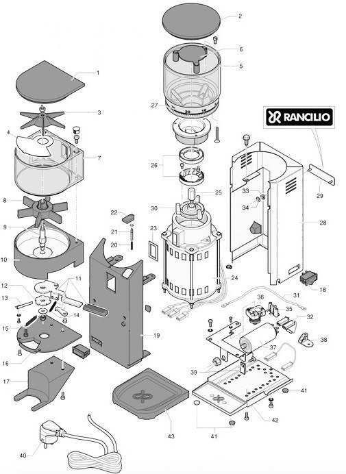 rancilio rocky exploded view