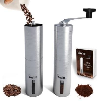 Orvite Ceramic Burr Manual Coffee Grinder - Portable Stainless Steel Conical Coffee Mill with Hand Crank review
