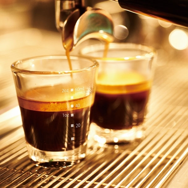 crema on espresso shots