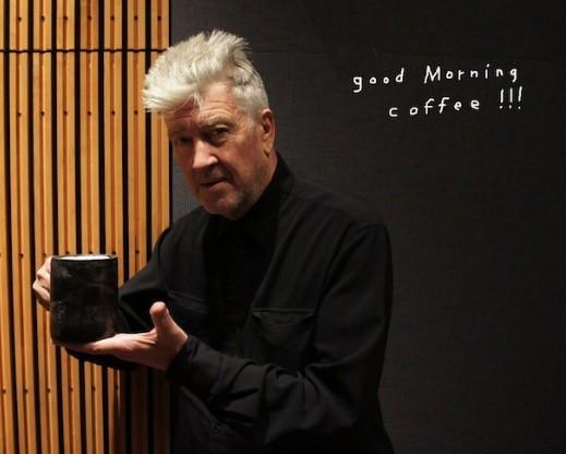 david lynch drinking coffee