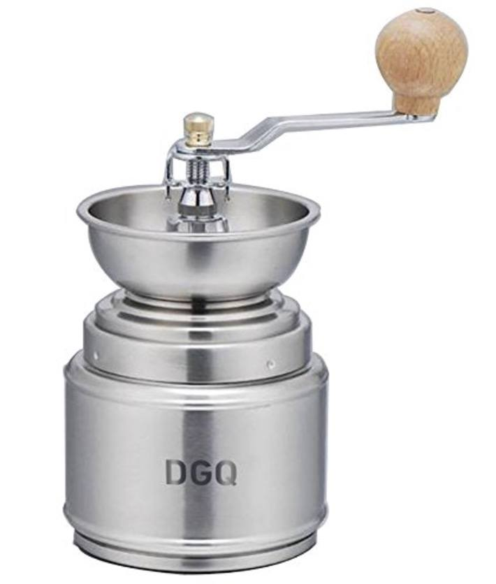 DGQ Manual Coffee Bean Hand Grinder Spice Herbs Vintage Style Coffee Beans Grinding Machine, Manual Grinding Bean Machine