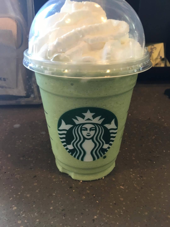 starbucks green tea frap calories